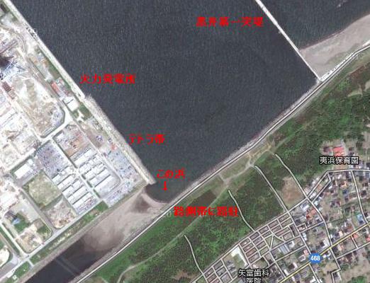 夷浜:火力発電所前の浜(上越市)-B型人間的新潟の投げ釣り